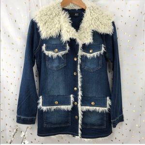NWT Kut From The Kloth Fur Jean Jacket